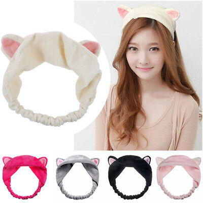 Hot Cat Ear Headband Casual Party Makeup Hairband Soft Velvet Hair Accessories