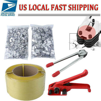 Strapping Tool Complete Kit Metal Seals Poly Strap Banding Roll Supply Xi