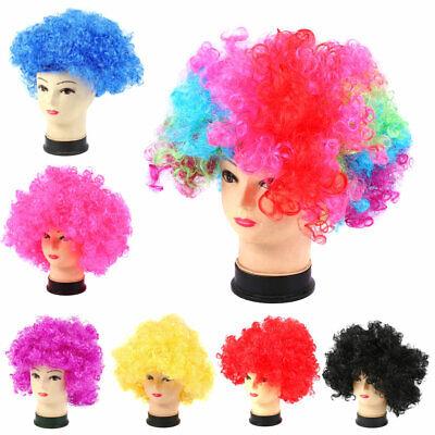 Halloween Cosplay Clown Disco Kostüm Mädchen Jungen lockiges Haar Perücke (Lockiges Haar Kostüm Halloween)