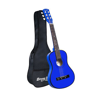 30 inch 1/2 Size Beginner Acoustic Guitar Musical Instrument Kit With Case Blue