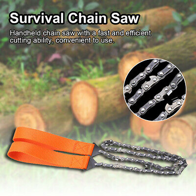 Portable Survival Chain Saw Chainsaw Emergency Camping Pocket Hand Tool Pouch US