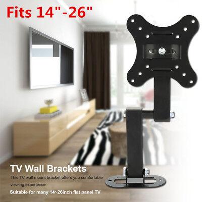 New Monitor TV Wall Mount Bracket Motion Tilt Swivel LED LCD Flat For 14