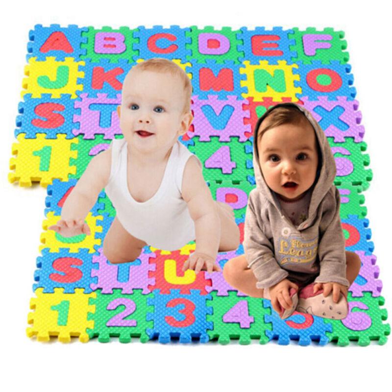 36pcs Soft EVA Foam Baby Children Kids Play Mat Alphabet Number  Jigsaw