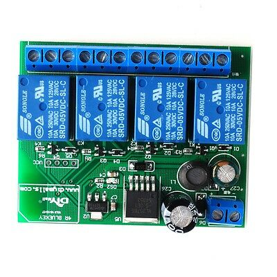 6-24v 4 Channel Bluetooth 4.1 Relay Board Module For Apple Android Phone