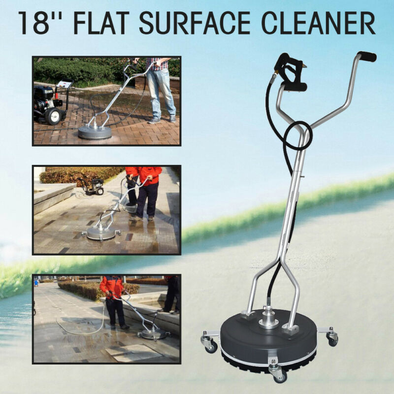 """18"""" 4000PSI Flat Surface & Concrete Cleaner Pressure Washer Cold/Hot Water US"""