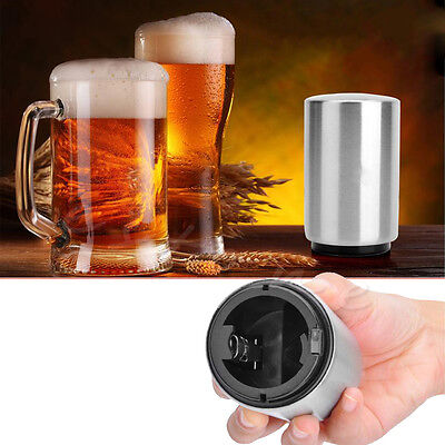 Stainless Steel Automatic Bar Bottle Glass Opener Beer Soda Cap Wine Open Tool
