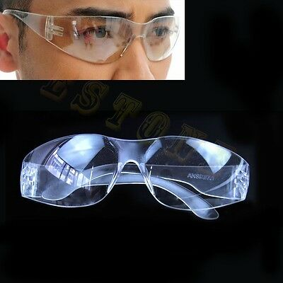 Lab Medical Student Eyewear Clear Safety Eye Protective Anti-fog Goggles Glasses