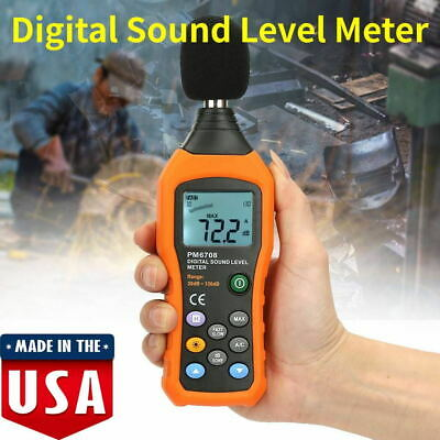 Digital Sound Pressure Tester Level Meter 40130db Decibel Noise Measurement Us