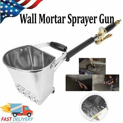 4 Jet Cement Mortar Concrete Air Stucco Sprayer Hopper Wall Plastering Gun Tools