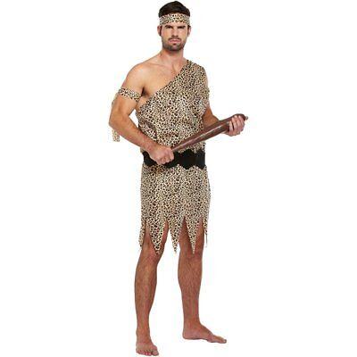 Costume Fancy Dress Cavernicolo Adulti (Marrone) (m5T)