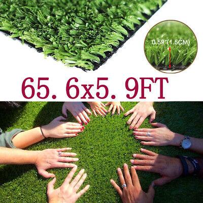 65x5.9 ft Artificial Grass Mat Synthetic Landscape Fake Lawn Pet Dog Turf Garden
