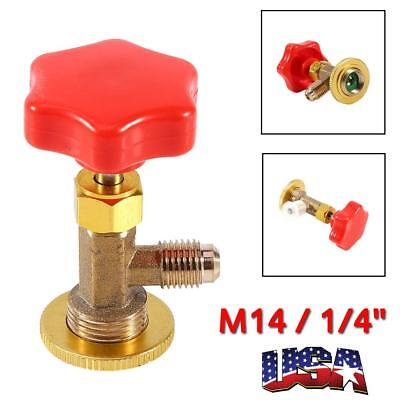 1Pc Car R134a Air Refrigerant AC Can Tap Valve Bottle Opener Tool W/ Red Cap US, used for sale  USA