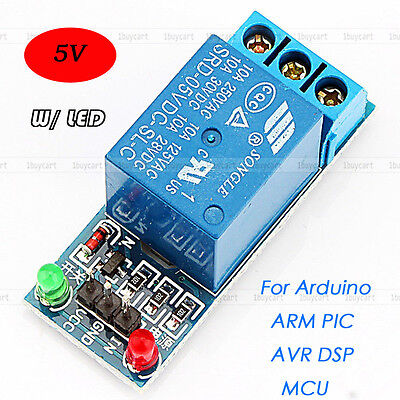 Durable 5v 1 Channel Relay Module Shield W Led For Arduino Arm Pic Avr Dsp Mcu