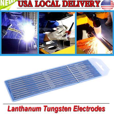 10pcs Tig Welding Tungsten Electrodes 2 Lanthanated 332x 6 Blue Tip Wl20 Usa