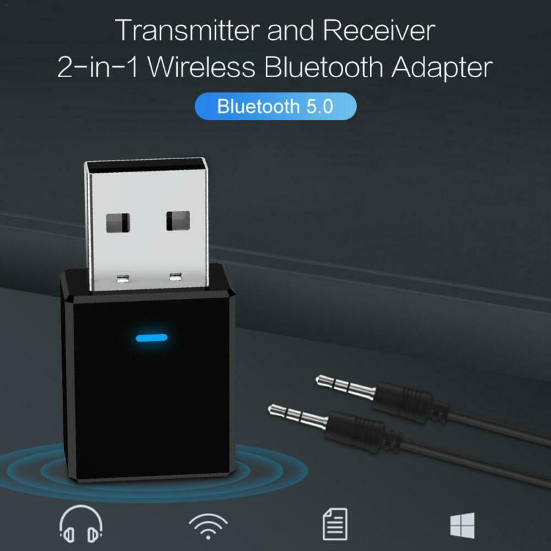 Bluetooth V5.0 Transmitter Audio Receiver Wireless USB Adapter For TV//PC Headpho