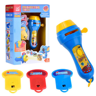 Kids Torch - Kid Animal Pattern Projector Flashlight Torch Toy Sleeping Story Education Gift