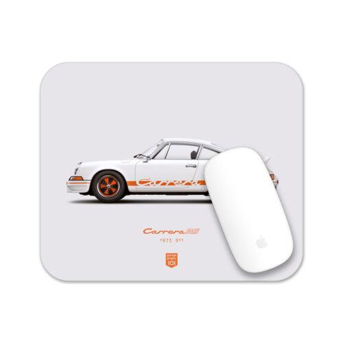1973 Porsche 911 Carrera RS (White) illustration Mouse Pad