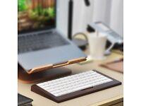 SAMDI wooden Apple Mac keyboard tray with underneath slot for storage