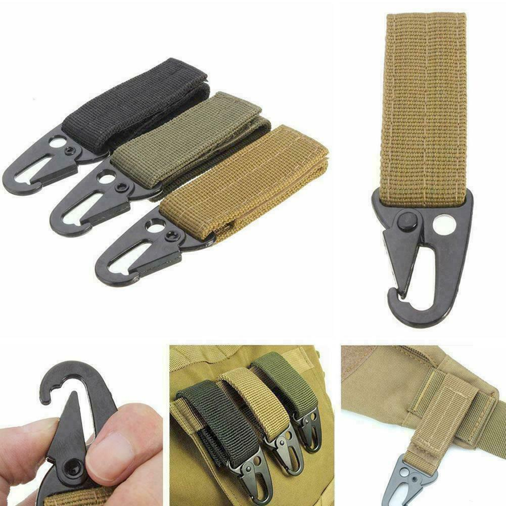 10x Outdoor S Shape 8 Type Key Chain Hook Clip Buckle Slidelock Carabiner Metal