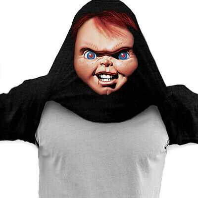 Chucky The Doll Halloween Costume (Bride of Chucky Doll Flip Up Over the Head Tee Shirt M (Halloween Costume))