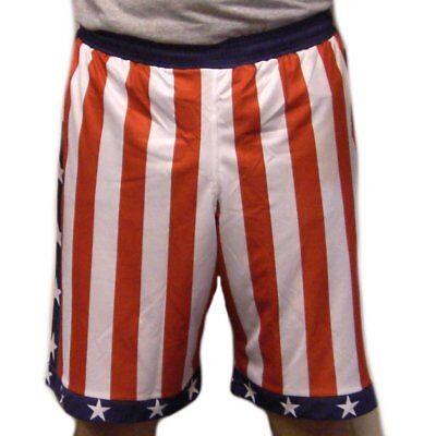 Rocky Balboa American Flag Shorts Donnie Apollo Creed USA IV Costume Movie Gift (Apollo Creed Costume)