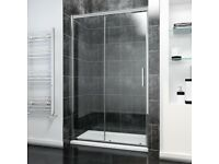 ELEGANT 1100mm Sliding Shower Door Modern Bathroom 8mm Easy Clean Glass Shower Enclosure