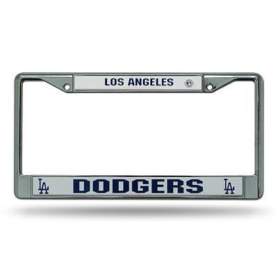 Los Angeles LA Dodgers MLB Baseball Chrome Auto Car License Plate Frame - Mlb Baseball License Plate Plates