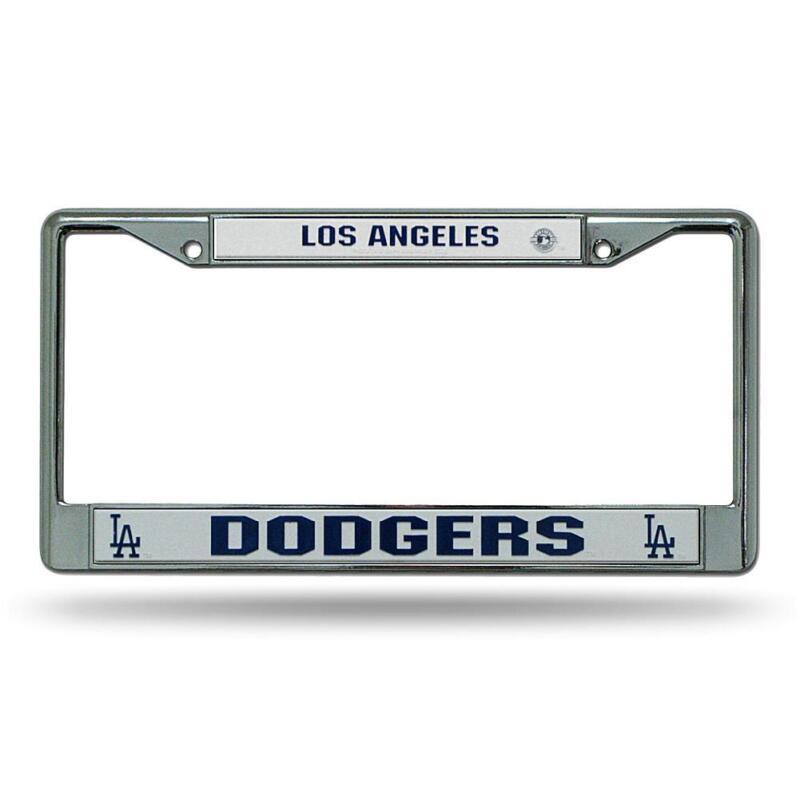 Los Angeles LA Dodgers MLB Baseball Chrome Auto Car License Plate Frame