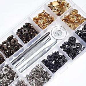 Hot 40 Set Leather Craft Snap Fasteners Snaps Buttons Press Studs Fixing Tools