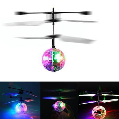 Fliegende Spielzeug (Fliegende Kugel-Infrarot-Induktions-bunte LED-Disco RC Hubschrauber-Spielzeug HS)