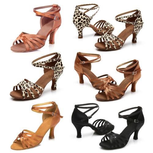 New Top Women`s Ballroom Latin Tango Dance Shoes heeled Salsa Moedern Sale