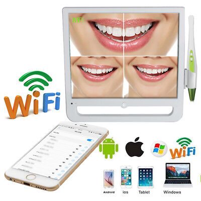 17 Inch Wifi Wireless Digital Lcd Aio Monitor Dental Intraoral Camera 14 Ccd