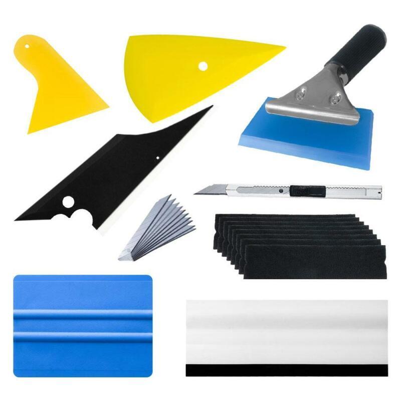 Car Wrapping Tools Kit Vinyl Squeegee Felt Scraper Pro Cutter Razor Window Tint