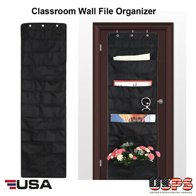 Paper Organizer Wall Mount File Folder Cascading 10 Pocket Office School Hanging