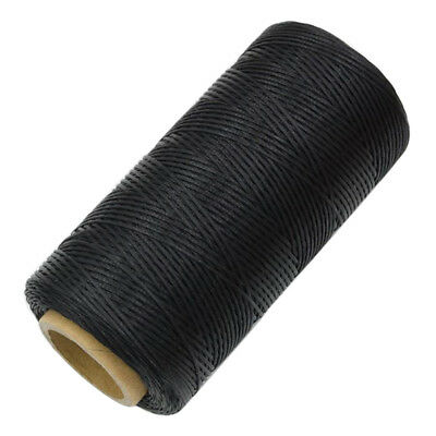 Flat Leather Sewing Waxed Thread Black For Awl Upholstery Shoes Repair 260m 1MM