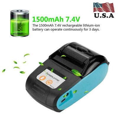 Wireless Portable Receipt Printer Bluetooth 4.0 Thermal Bill Printer 110-240v