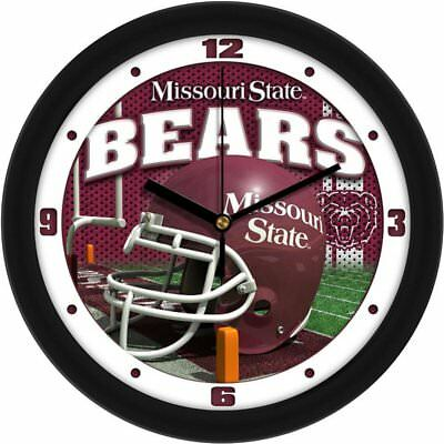 Bears Ncaa Wall Clock - NCAA Missouri State Bears Carbon Fiber Wall Clock