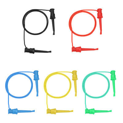 5pc Colorful Multimeter Electrical Test Dual Smd Ic Silicone Lead Test Clip Hook