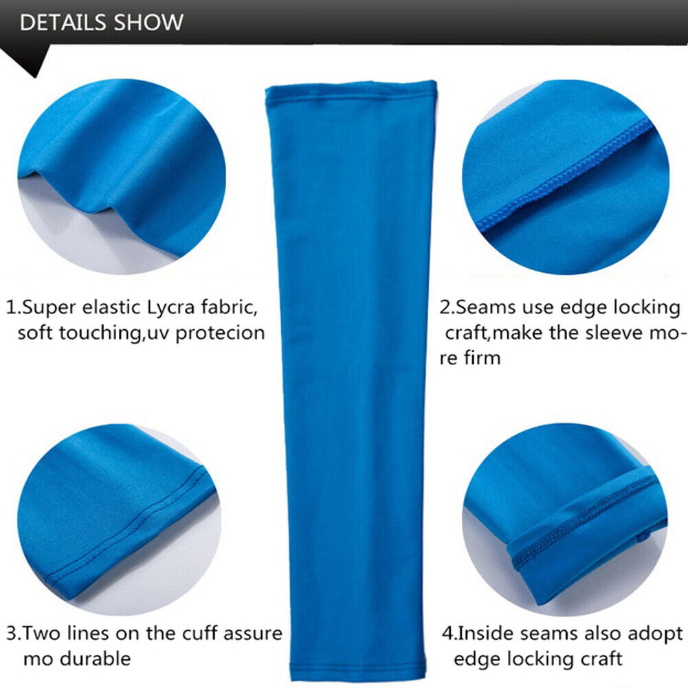 Unisex 1 Pair Outdoor Sport Anti UV Sun Shield Arm Sleeves Skin Cover US FAST Cycling