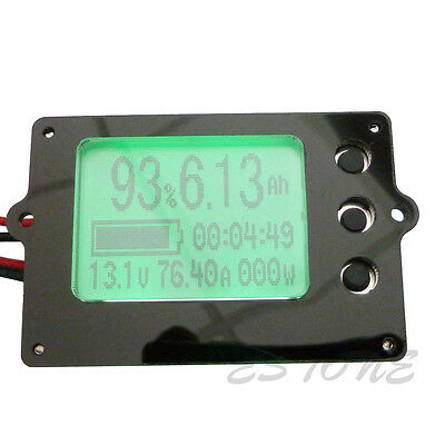 Capacity Tester Indicator coulometer 8V-50V 12v 50A Lithium / Lead-acid Battery
