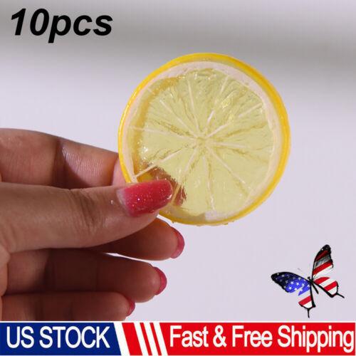 10PCS Fake Lemon Slice Artificial Fruit Simulation Fake Lemon Slices Home Decors