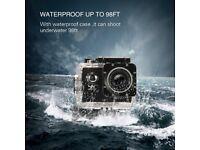 Action Camera 4K Ultra HD WiFi Sports Camera 16MP 170 Degree Wide Angle 2.0 Inch Waterproof