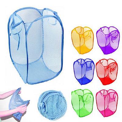 3 Pack Pop Up Folable Laundry Basket Mesh Hamper Washing Clothes Bag Storage (Pop Up Storage Bin)