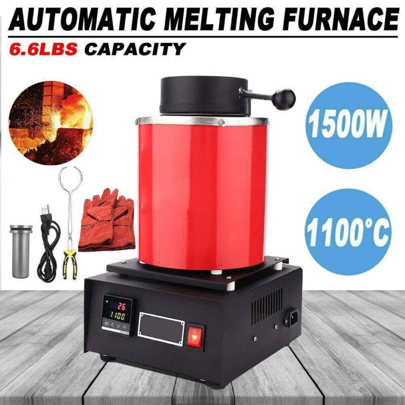 3KG Automatic Melting Furnace Digital Metal Gold Silver Smel