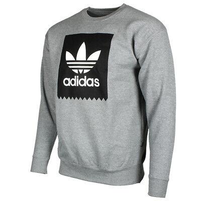Adidas Originals Men's Trefoil Blackbird Logo Fleece Crew Neck Sweatshirt Activewear