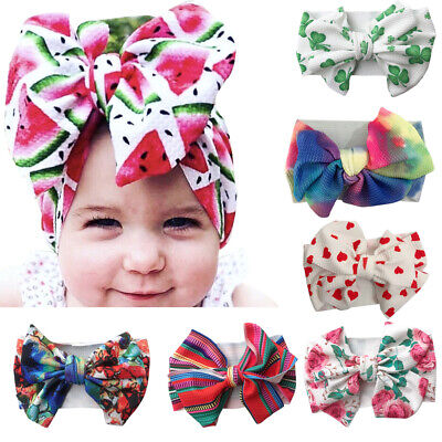 Baby Kids Girl Big Bow Tie Head Wrap Turban Bowknot Headband Wide Hair Accessory Baby