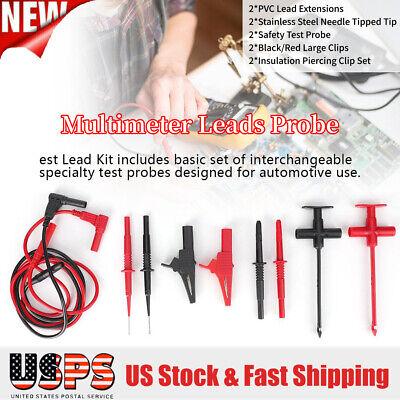 Multimeter Tester Lead Probe Electronic Test Lead Kit Electronic Needle Clip Set