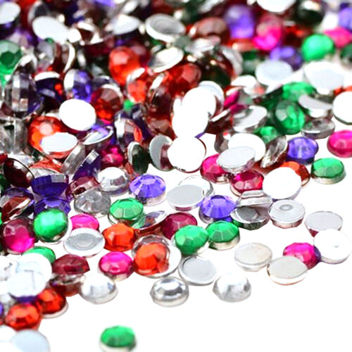Rhinestones Flat Back Resin Diamante Gems Crafts Nail Art