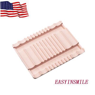 Dental Lab 8 Instrument Capacity Mat Tools Mange Holder Tray Autoclavable Pink