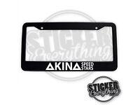 X1 AKINA SPEED STARS FUKIWARA ABS Black INITIAL D License Plate Frame